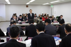11月16日愛知県交渉あいさつ久保田武社保協副議長
